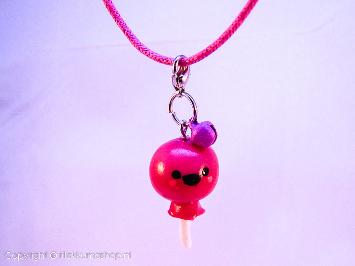 Kawaii lollipop on wax cord