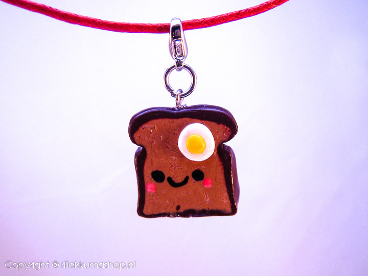 Kawaii Tost en ei on waxkoord