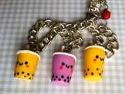 Kawaii Boba tea armband