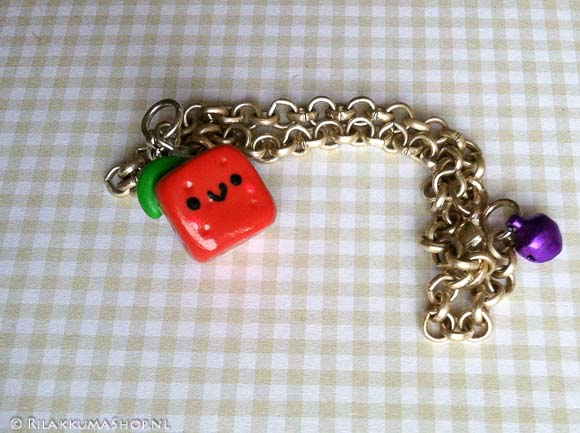 Bracelet with kawaii cube fruit