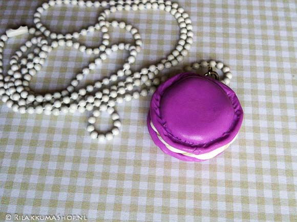Kawaii Macaron on ball chain