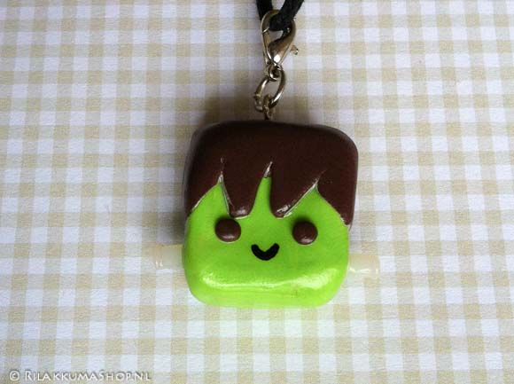 Kawaii Frankenstein on wax cord