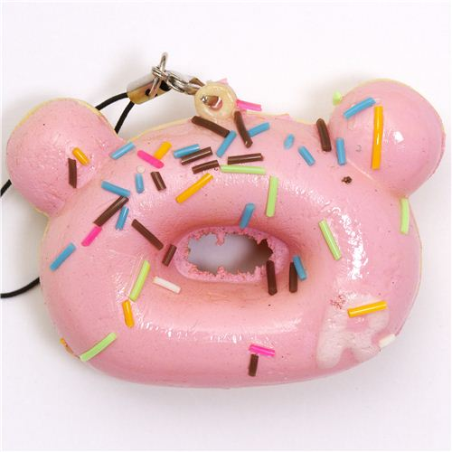 Rilakkuma Kawaii Super Cute and soft Pink Donut Squishies