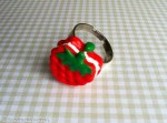 Kawaii Strawberry ring Charms
