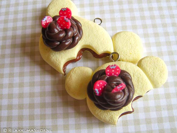 Kawaii Korilakkuma Cake with Chocolate filling Charms