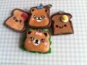 Cute Kawaii toast charms