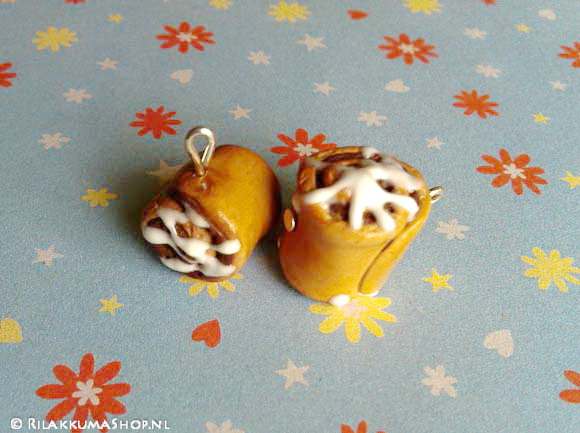 Kawaii cute Cinnamon Rolls Sticky Bun Charm