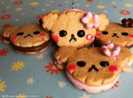 Kawaii cute Rilakkuma Cookie Strawberry, Chocolate Filled Charm