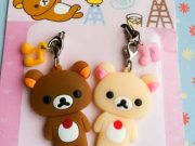 Rilakkuma & Korilakkuma bear couple phone charm/MP3/MP4 Straps/bag Pendant