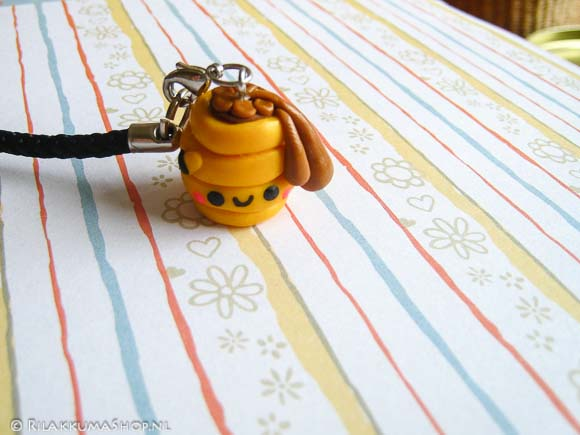 Kawaii Beehive Cell Phone Straps