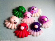 Kawaii Big Nose Octopus Cabochon Charms