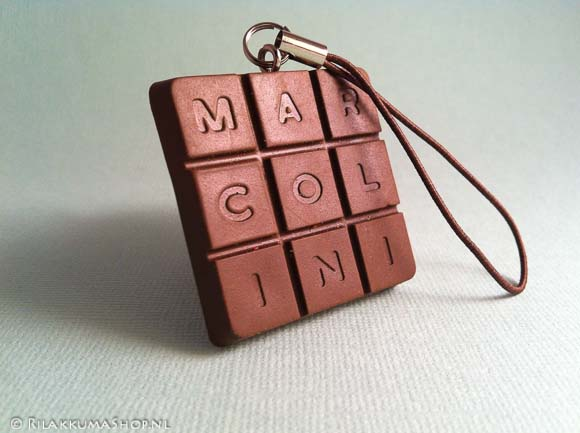 Pierre Marcolini Chocolate Bar Squishies Charms