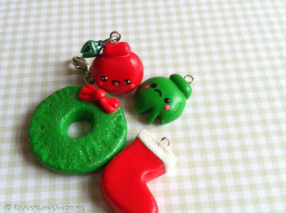 Kawaii Christmas set Charms