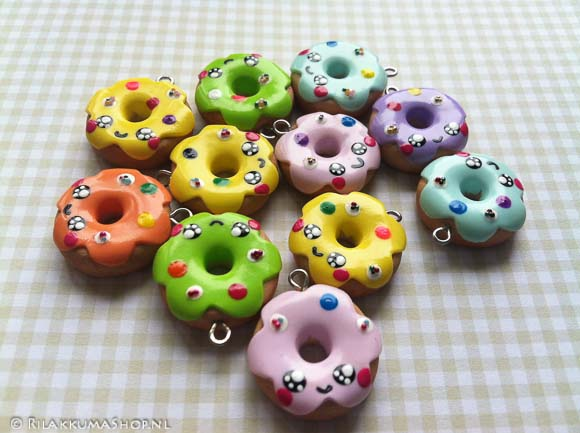 Kawaii cute Donut Charms