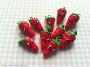 Kawaii cute Strawberry Charms