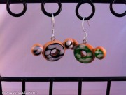 Kawaii cute Rilakkuma glazed Donuts earrings