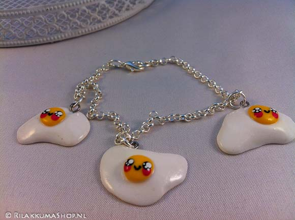 Kawaii cute egg bracelet