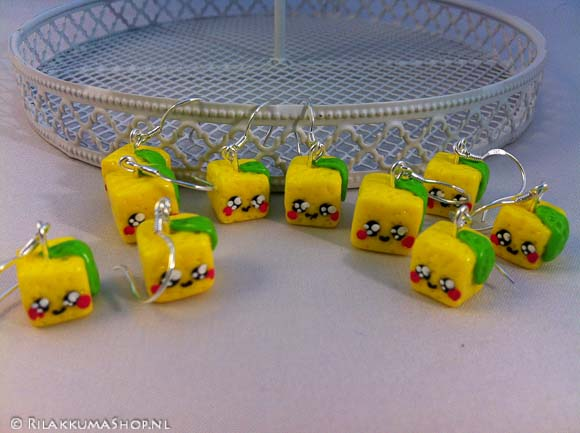 Kawaii Cute Fruit cube earrings