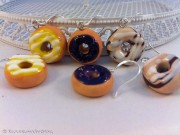 Kawaii cute glazed Donuts earrings