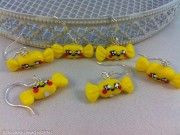 Kawaii so Cute lemon bonbon candy earrings