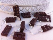 Kawaii cute Chocolate Bars earrings