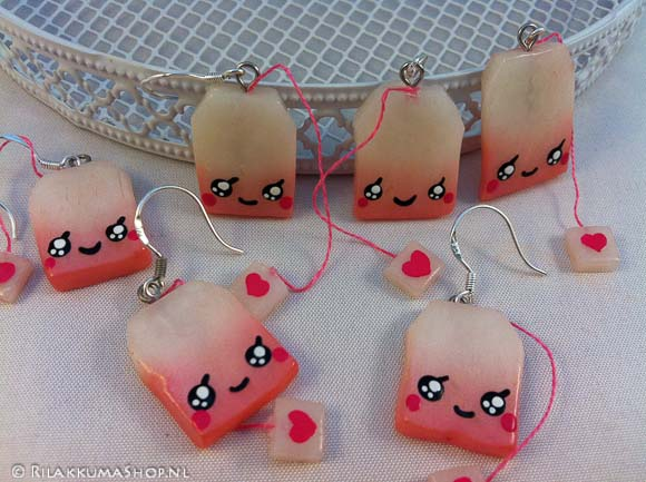 Kawaii cute Tea-bag earrings