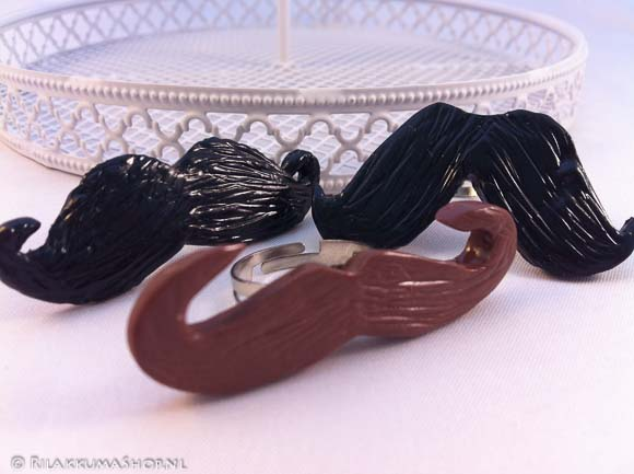 Kawaii Cute Mustache rings