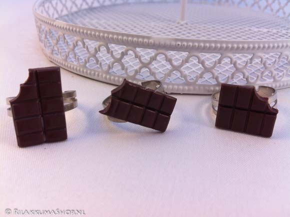 Kawaii cute Chocolate Bars rings