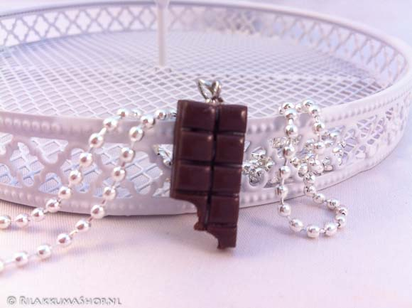Kawaii cute Chocolate Bars necklace
