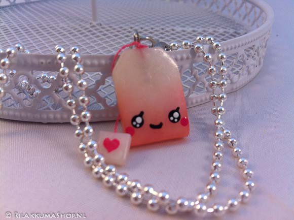 Kawaii cute ♥ Tea-bag on ball chain