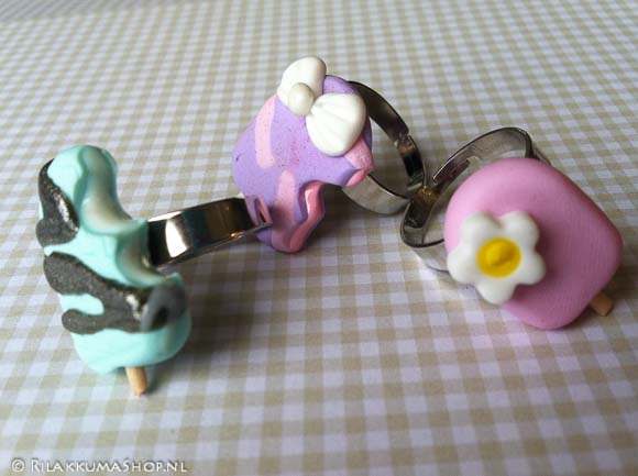 Kawaii cute ice cream Popsicle rings