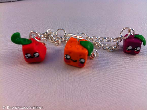Kawaii Cute Fruit cube bracelets