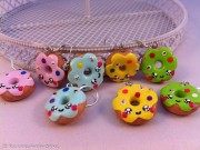 Kawaii cute colorful Donuts earrings