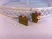 Kawaii cute ChocolatePeer piece of cake earrings