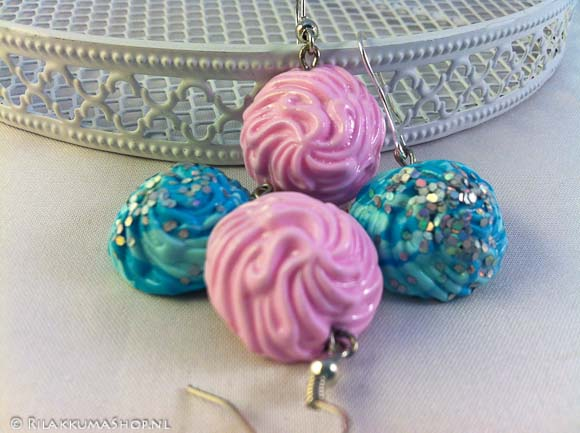 So Cute Whipped Cream Clay Dollop earrings