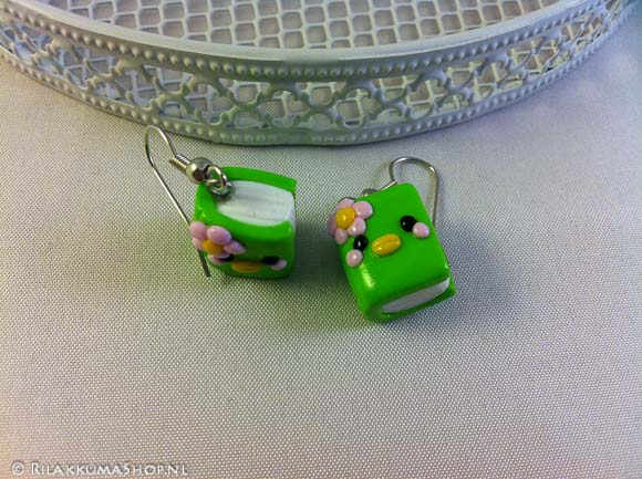 Kawaii adorable Sabo Kappa Book Charms earrings
