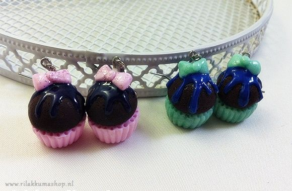 Kawaii adorable Cupcake earrings