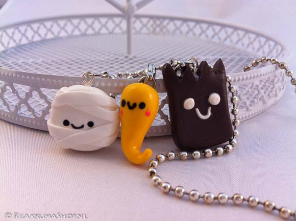 Kawaii Halloween set Charms on balls chain