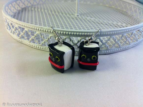 Back to School: Kawaii adorable Kutusita Nyanko Book Charms earrings