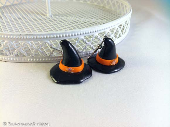 Kawaii Halloween Witch Hat earrings
