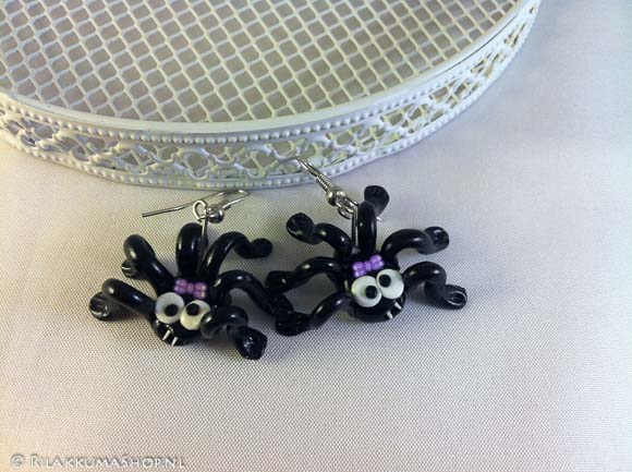 Kawaii so cute Halloween Spider earrings