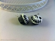 "Kawaii Halloween ""Jack Skellington"" Cupcake earrings"