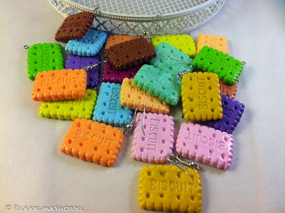 Kawaii so yummy Biscuit earrings
