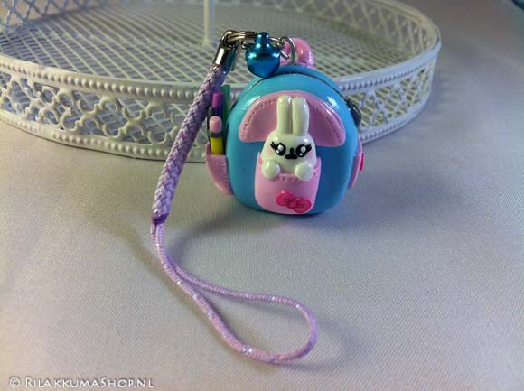 Back to School: Kawaii Backpack, Molang in Backpack on Cell Phone Strap