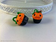 Kawaii Halloween Pumpkin Cupcake earringsKawaii Halloween Pumpkin Cupcake earrings