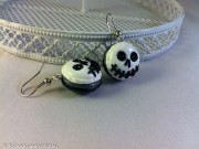 "Kawaii Halloween ""Jack Skellington"" Macarons earrings"
