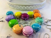 So cute Colorful Macaroon earrings