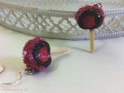 Kawaii Valentine's Day Chocolate-Strawberry Lollipops earrings