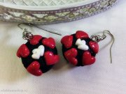 Kawaii Valentine's Day Chocolate Hearts Cupcake earrings