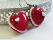 Kawaii Valentine's Day Strawberry Macaroon earrings